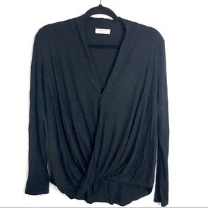 Babaton Aritzia Long Sleeve Drape Top Small